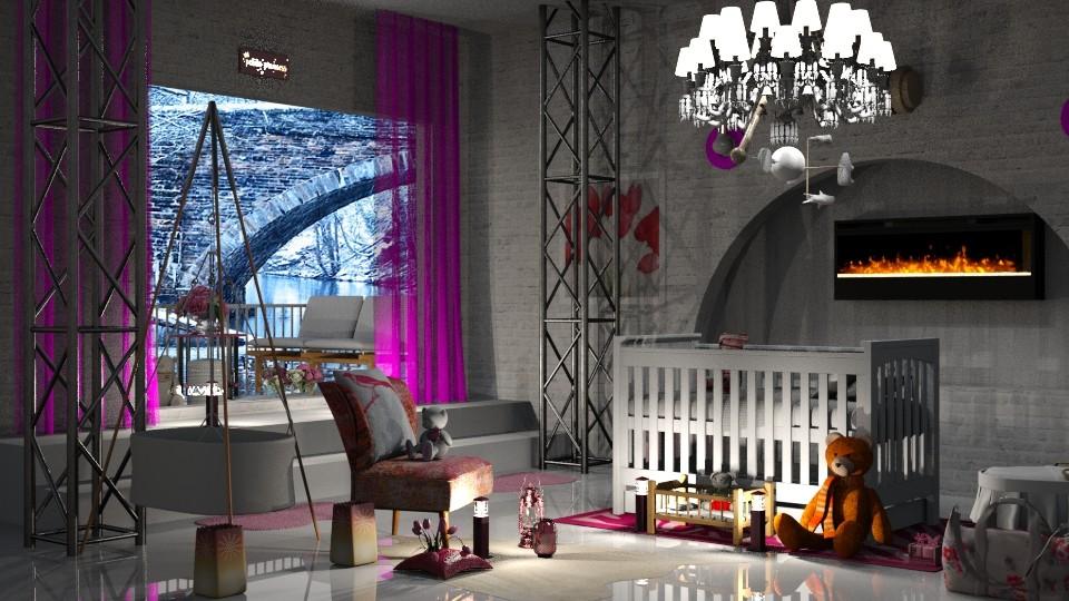 Pink snowflake - by InteriorDesigner111
