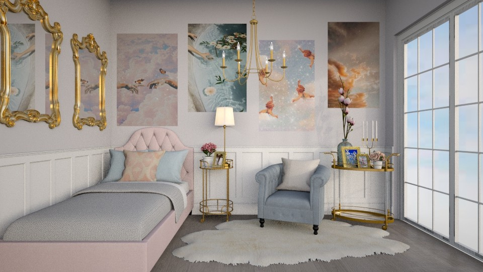 angel aesthetic bedroom - Glamour - Bedroom  - by sara1010
