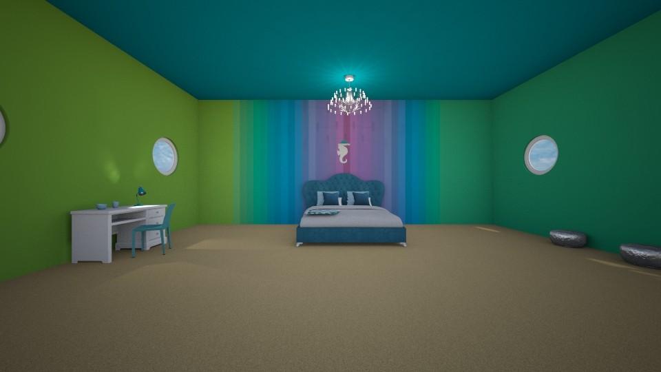 Underwater Room - Bedroom  - by Itsjustme1