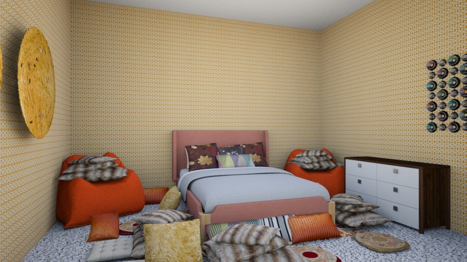 Autumn bedroom - by LuckyVicky