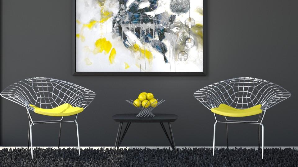 Yellow_Grey_44 - Modern - Living room - by Hajnalka978