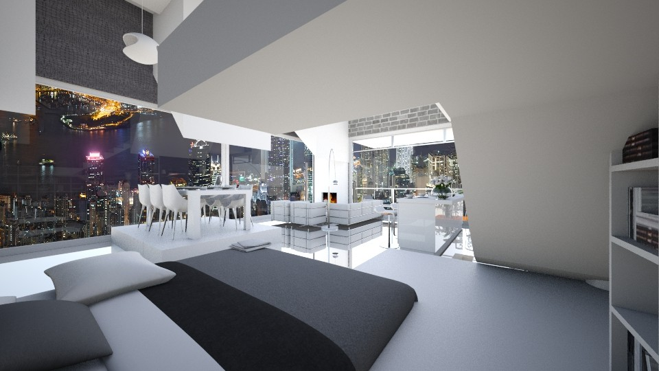 HongKongSkylinePenthouse - Modern - Living room - by Gre_Taa