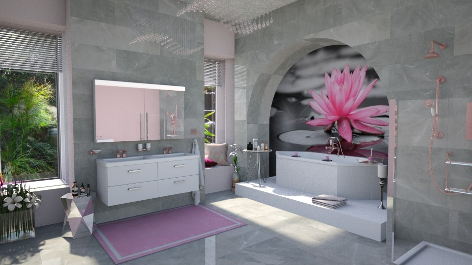 Lily Pond Bathroom - Bathroom  - by ginamelia22