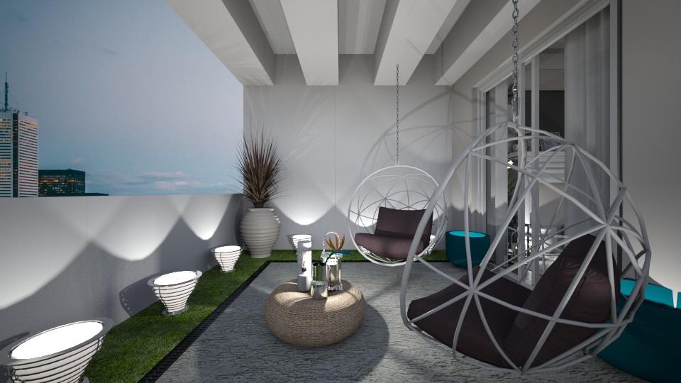 Modern balcony - Modern - by jagwas
