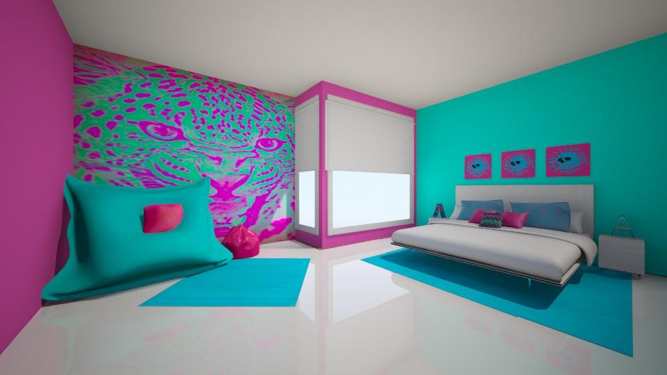 the neon bedroom - Modern - Bedroom - by jnd444