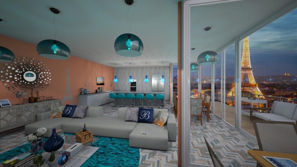 Paris - Global - Living room - by kellynazha