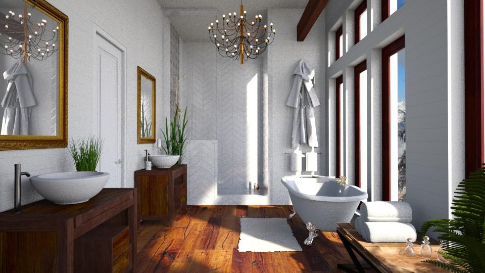 Rustic Bath - by lindsaycaitc