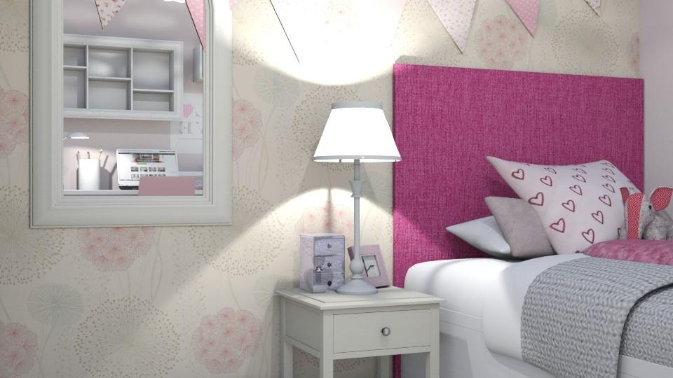 Romantic Pink Bedroom - Kids room  - by Georgia Perrou