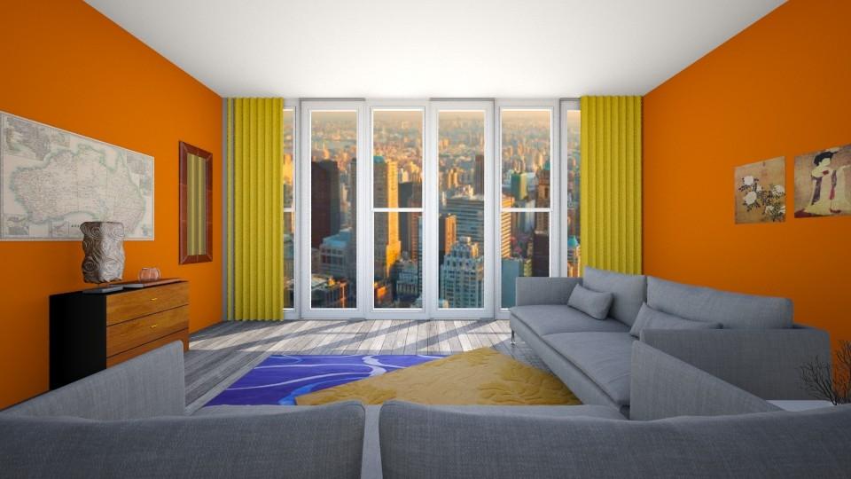 New york Studio - Living room - by kylathemermaid