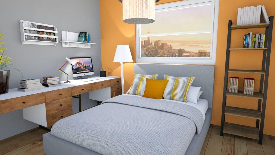 bachelors room - Modern - Bedroom  - by sonakshirawat175