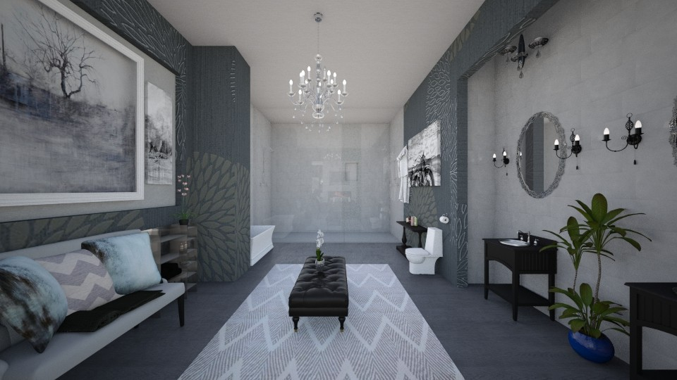 Grey Suite Bath - Modern - Bathroom - by DiamondJ569