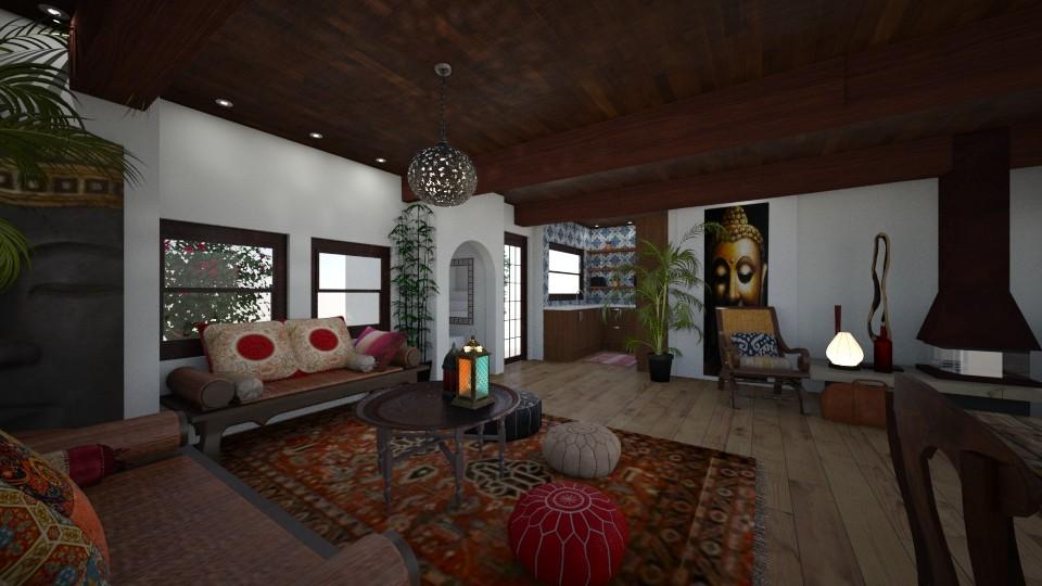 Ibiza House - Living room - by Lisett