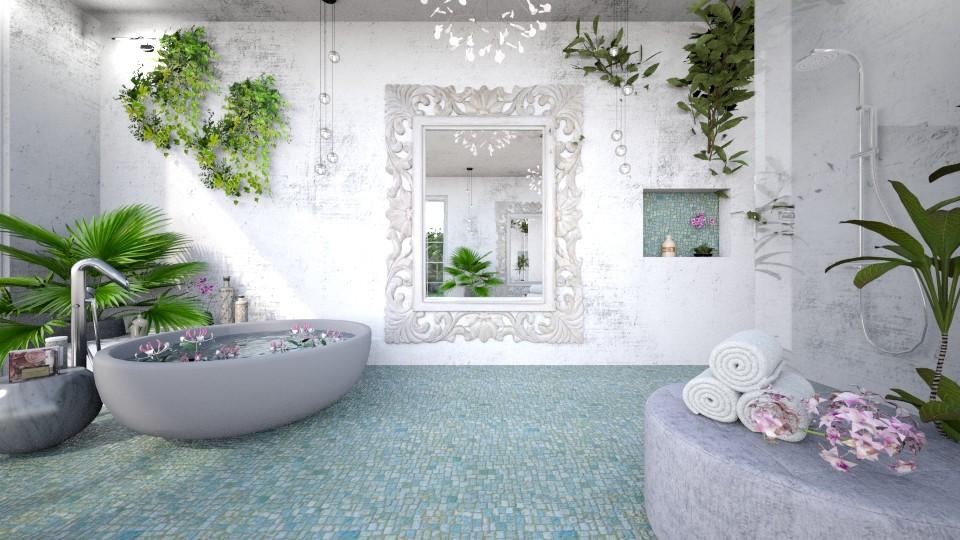 Jungle bathroom 2 - Bathroom  - by Chiara Amadei