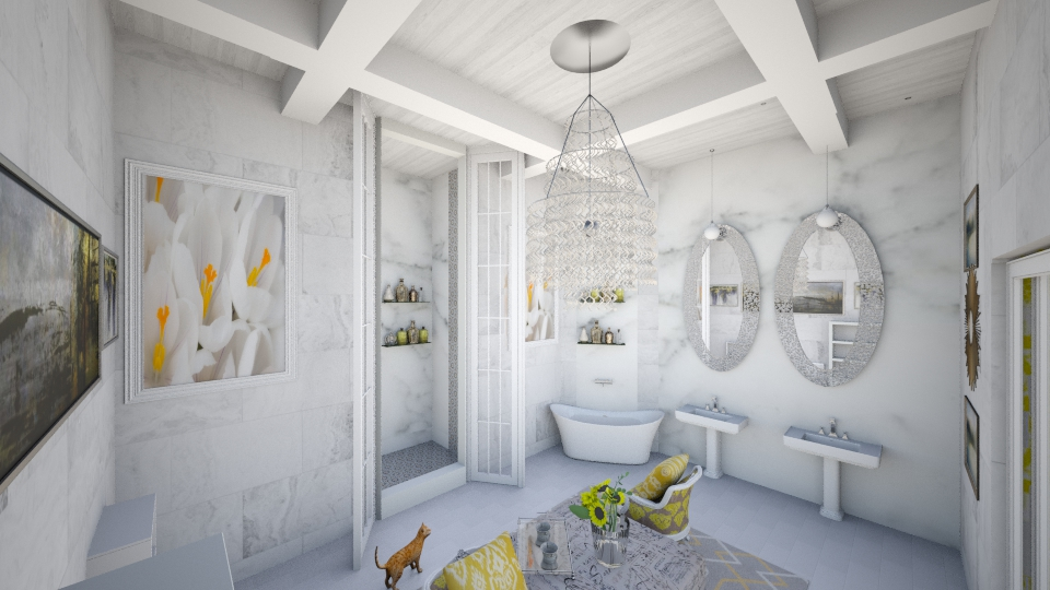 Yellow Suite Bath - Modern - Bathroom - by DiamondJ569