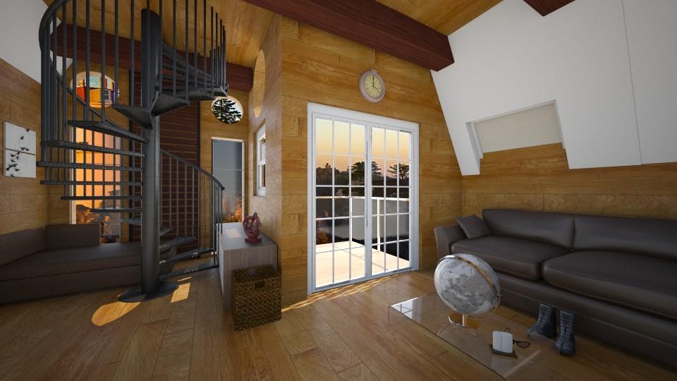 sala con balcon - Living room - by juan jose ramirez