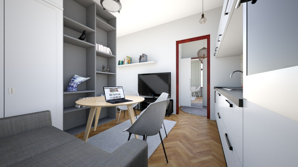 Industrial Room - Modern - Living room  - by agnieszka_giez