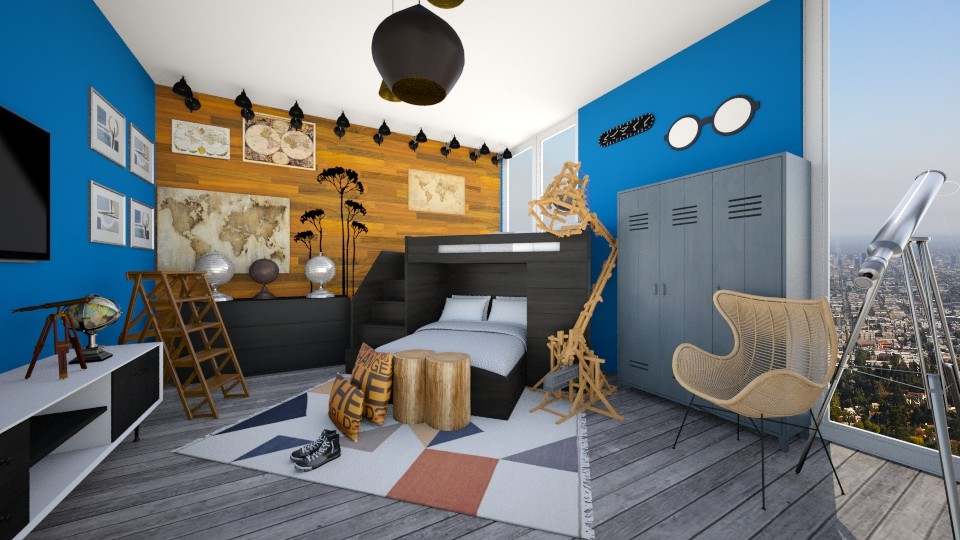 Explorer - Eclectic - Kids room - by CreativeCE