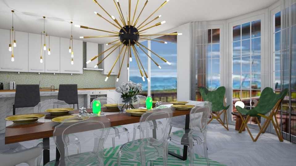green dining room - by ccassidyyevvanns