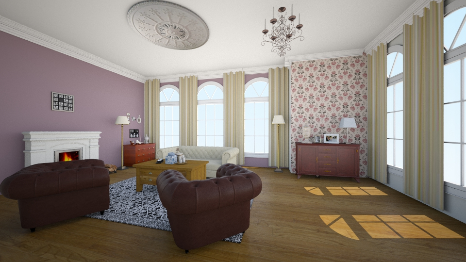 England - Classic - Living room - by Larise