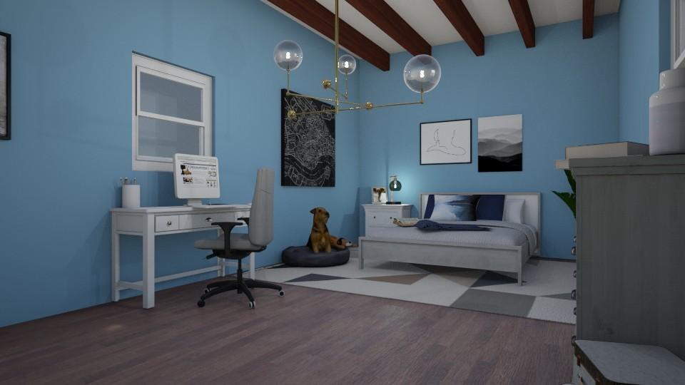 urban vintage bedroom - by idance14