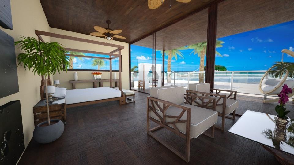 Beach Hut - Bedroom  - by CassW