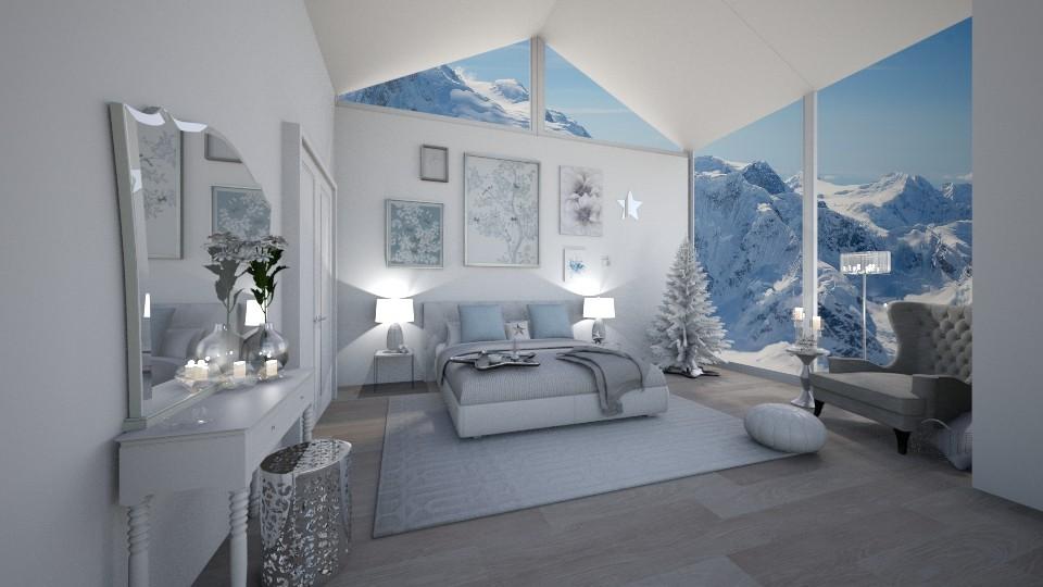 bright white - Modern - Bedroom - by Georgina Holly