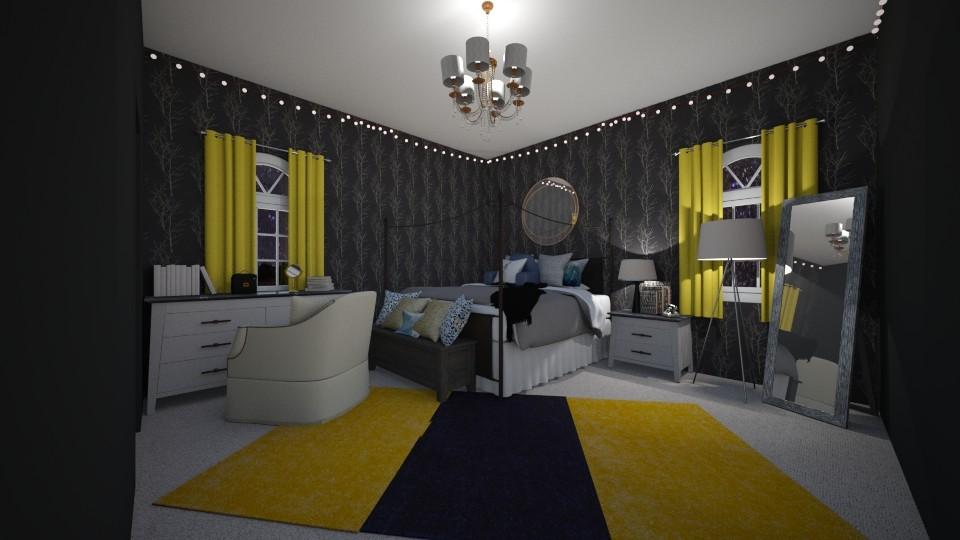 Dark Vibes - Bedroom - by neverlanddesigns