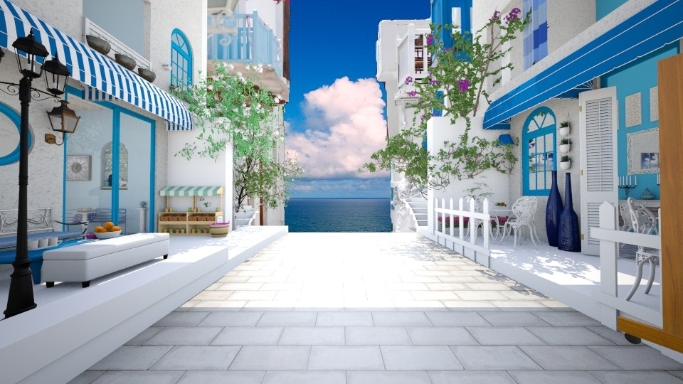 Santorini_to the sea - Garden  - by thefairysknight