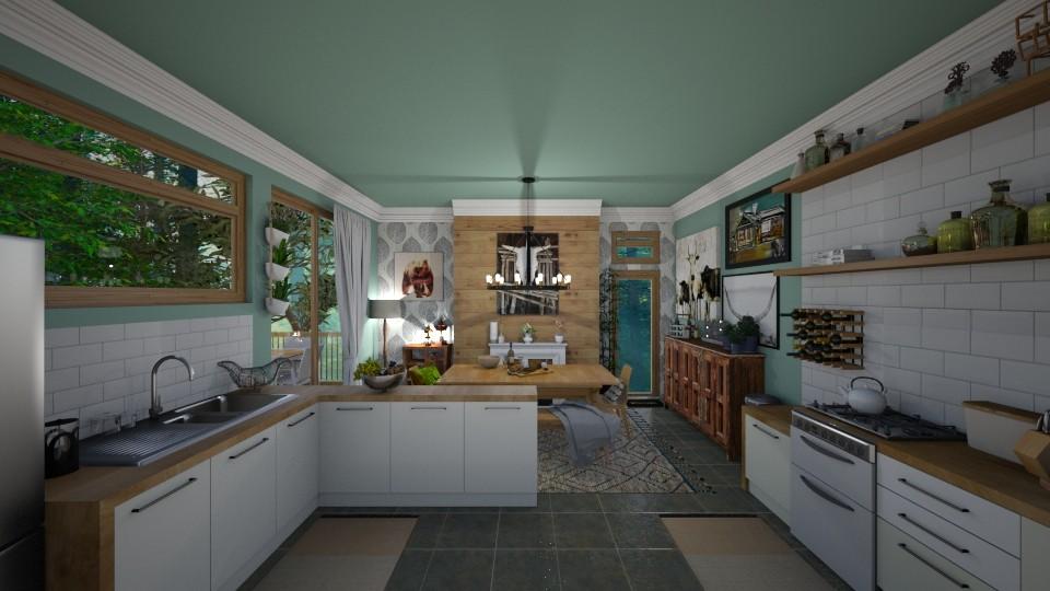 Cabin Vacation Home - Modern - Kitchen  - by Jodie Scalf