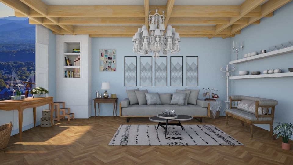 blue it up - Living room - by The Bug