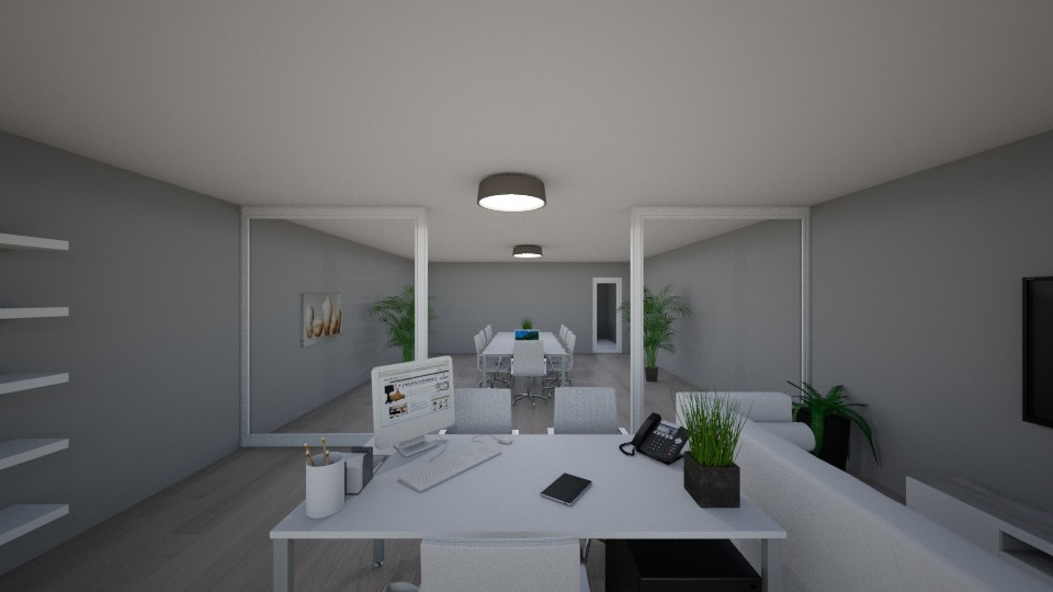 My office photo 2  - Modern - Office - by jakubm87