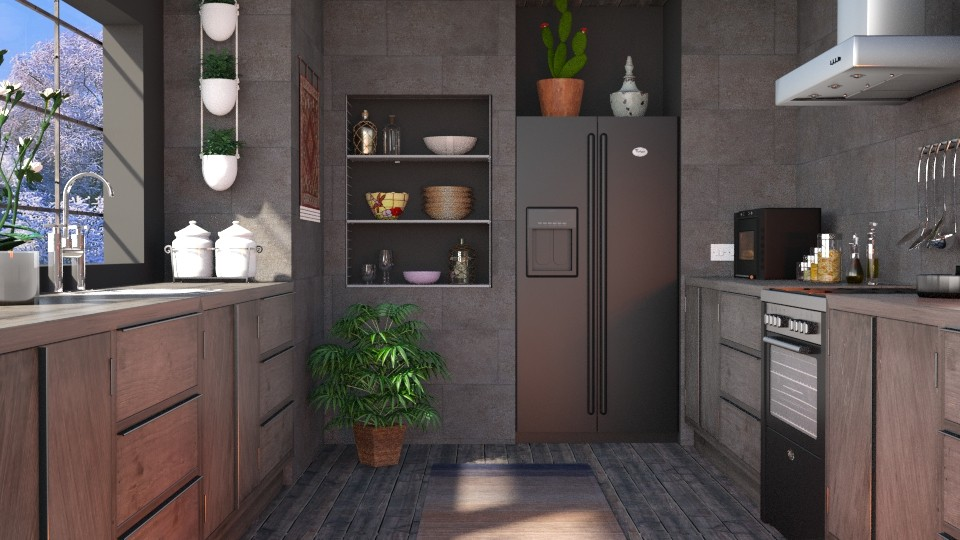 S_Gris tout le chemin - Kitchen - by Shajia