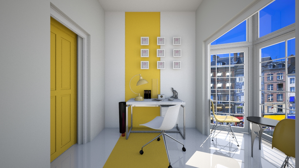 yellow line - Office - by Ni NI