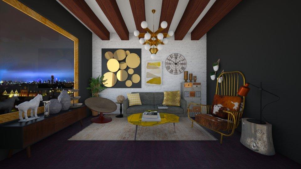 GOLD  - Modern - Living room - by Karim Mahfouz
