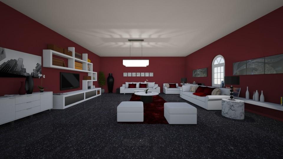 merlot living room - Modern - Living room - by crystalg98