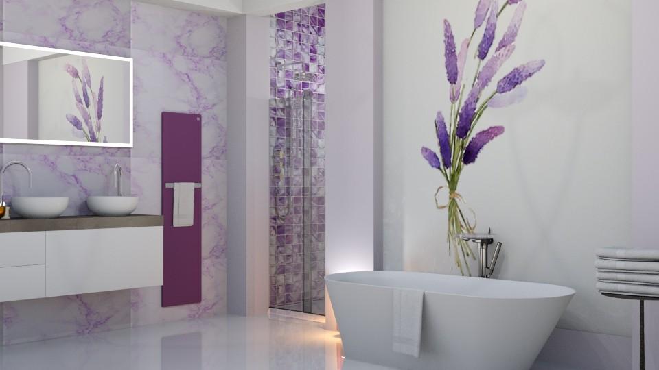 Lavender Bath - Bathroom  - by yonvie