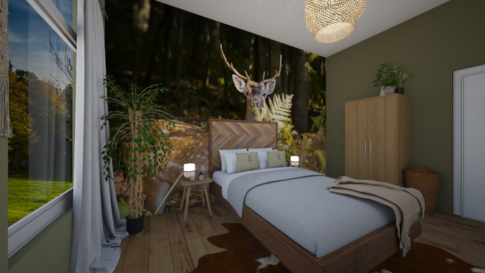 back to nature bedroom - Bedroom  - by lecpris