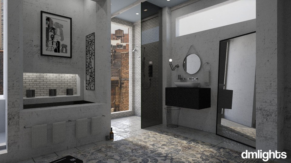 Dust - Masculine - Bathroom  - by DMLights-user-1303496
