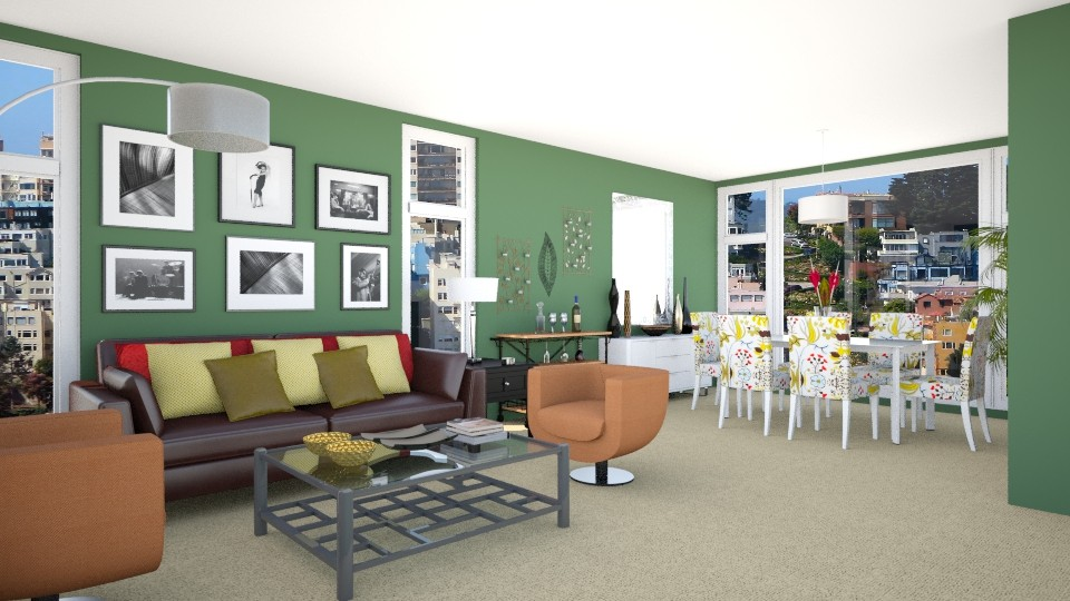 San Francisco - Eclectic - Living room - by LadyVegas08