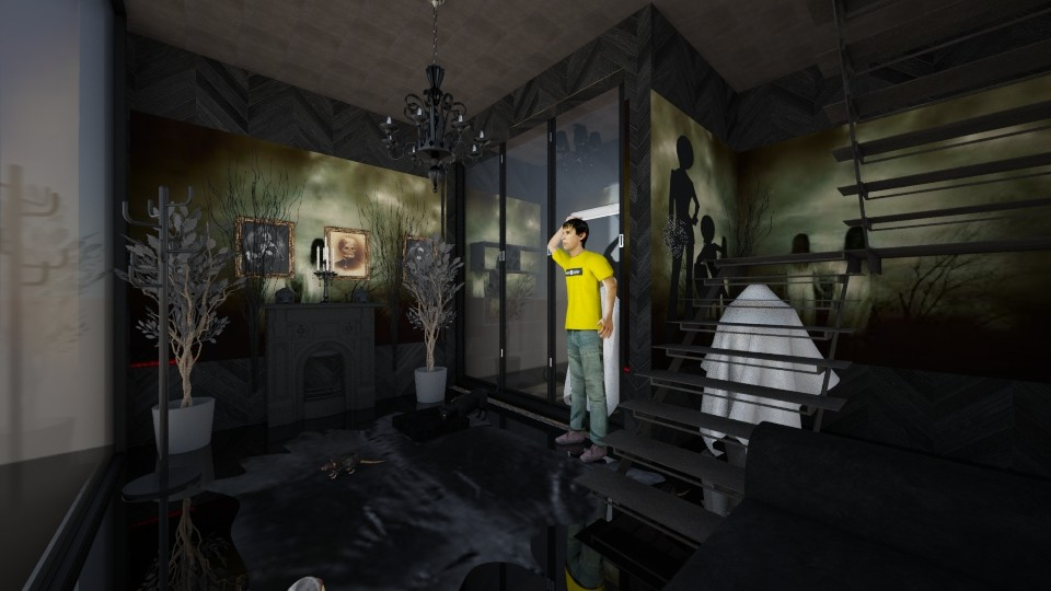 Halloween creeps - Living room - by Toshana Sue