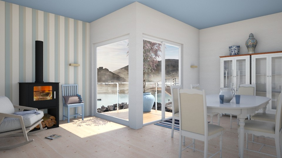 Blue lagoon Iceland - Minimal - Dining room  - by Elise DR