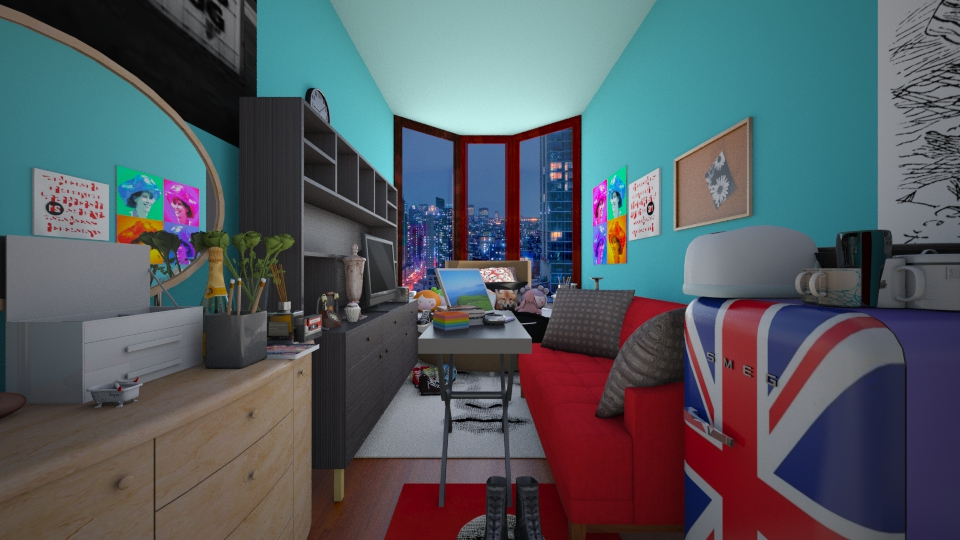 dorm bedroom - Bedroom - by rachelfox985