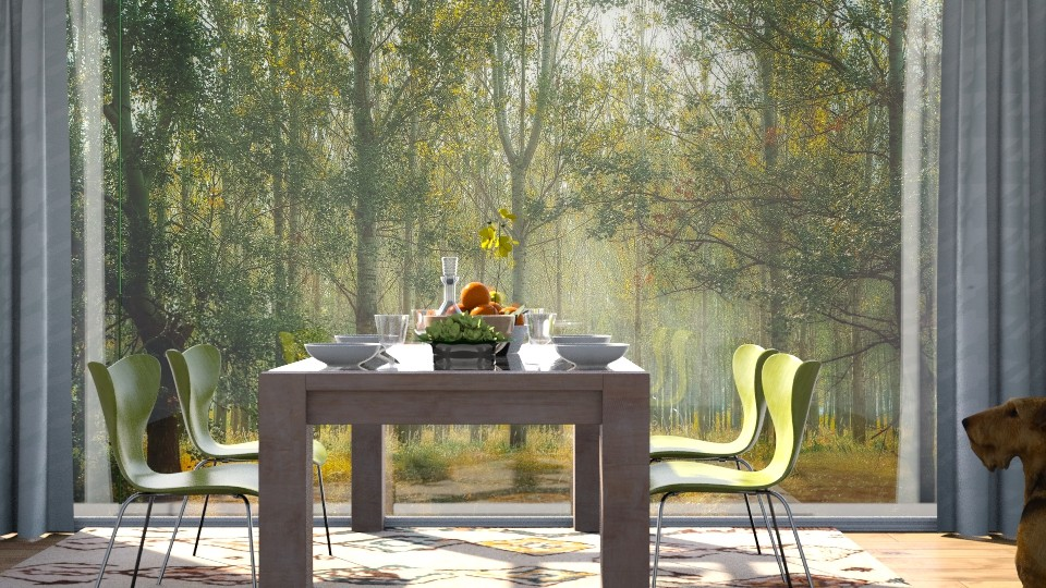 Late_Summer_Lunch - Dining room  - by ZuzanaDesign