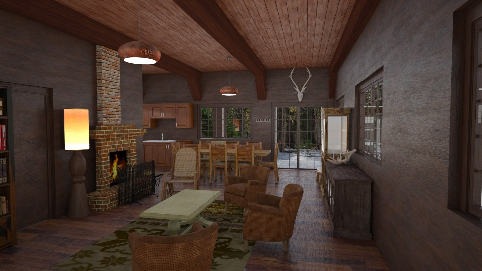 Hunters lodge - Country - Living room - by petersohn