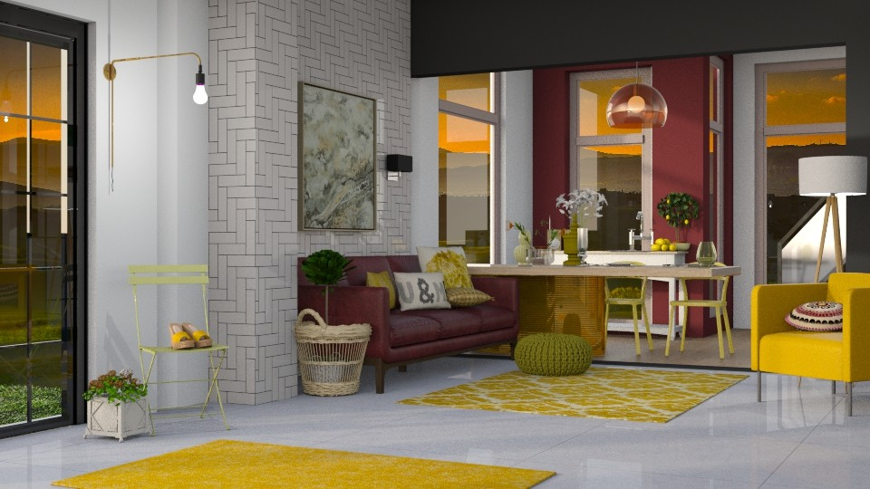 Yellow Chair - Modern - Living room - by Gurns