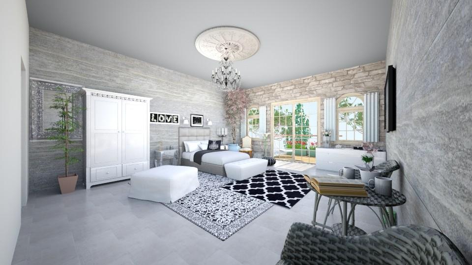 Sypialnia - Bedroom - by EmiliaWadranska