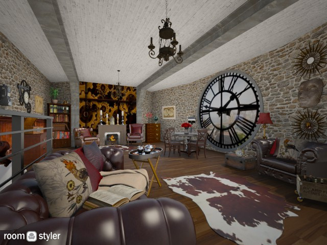 steampunk - Living room - by 80monkey