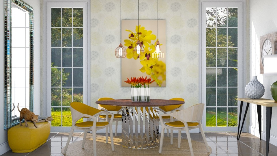 Toque de amarelo - Dining room - by Alecio