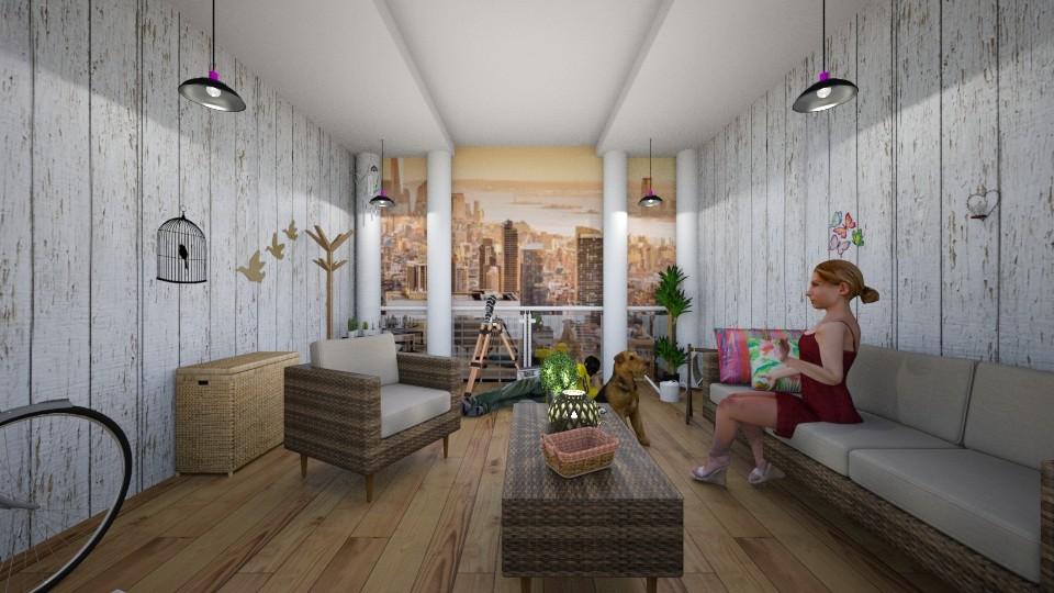 balcony - Living room - by dalilaaahodzic