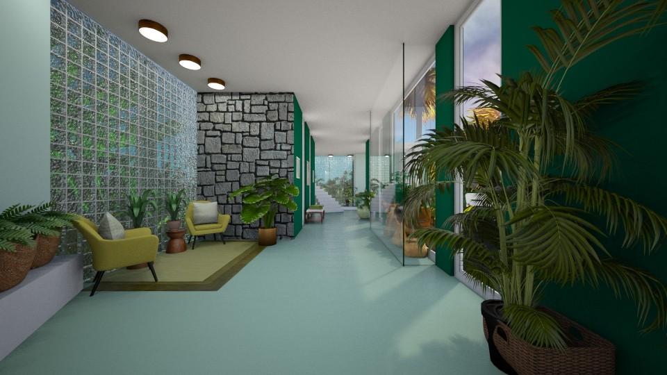 Urban Jungle Hallway POV - by Tiffany Monique